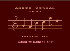 Atari Audio-Visual Test.